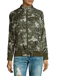 Members Only Raglan Sleeve Jacket Natural Camo Floral
