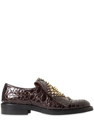 Ras 30Mm Studded Croc Embossed Leather Shoes