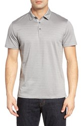 Robert Barakett Men's Walsh Polo Monument Grey