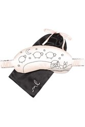Morgan Lane Lanie Embroidered Silk Charmeuse Eye Mask Off White