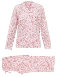 Derek Rose Ledbury Cotton Pyjamas Pink