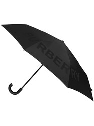 Burberry Kingdom Print Folding Umbrella Black