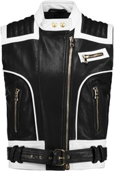 Balmain Textured Leather Vest