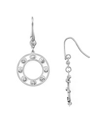Officina Bernardi Circle Drop Earrings Silver