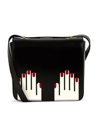 Lulu Guinness White Leather Marcie Hands Bag Multi