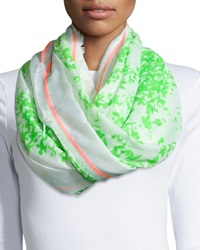 Michael Stars Neon Foliage Wrap Scarf Honey Dew