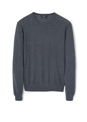 Mango Tenc Cotton Cashmere Blend Sweater Dark Grey