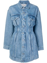 Levi's Made And Crafted Denim Trucker Dress Blue
