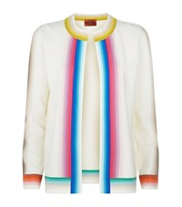Missoni Rainbow Stripe Short Cardigan Female White