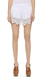 Nightcap Clothing Lacy Lounge Shorts White