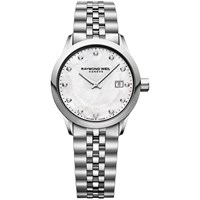 Raymond Weil 5629 St97081 'S Freelancer Date Bracelet Strap Watch Silver Mother Of Pearl