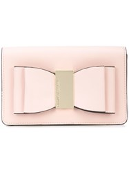 Christian Siriano Bow Clutch Bag Pink