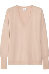 Iris And Ink Coralie Boyfriend Cashmere Sweater Pink