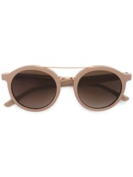 Hugo Boss Metallic Top Bar Sunglasses Nude Neutrals