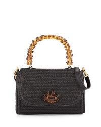 Eric Javits Ariel Squishee Satchel Bag Black