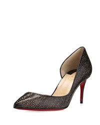 Christian Louboutin Galupump Laser Cut Red Sole Pump Black Nude