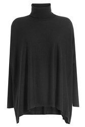 Steffen Schraut Turtleneck Poncho Pullover With Cashmere Black