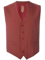 Romeo Gigli Vintage Classic Waistcoat Red