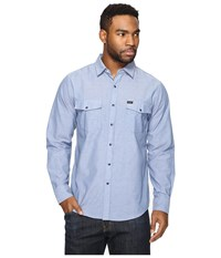 Brixton Wayne L S Woven Washed Indigo Men's Long Sleeve Button Up Navy