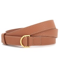 Tory Burch Wrap Leather Belt Brown