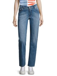 Opening Ceremony Dip Straight Leg Jeans Light Blue