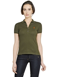 Polo Ralph Lauren Fitted Stretch Cotton Polo Olive Green