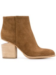 Alexander Wang Gabi Ankle Boots Women Leather Calf Suede 36.5 Nude Neutrals