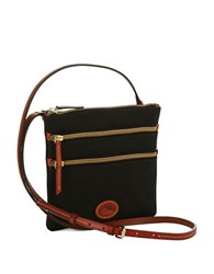 Dooney And Bourke North South Triple Zip Crossbody Black