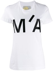 Marques Almeida Marques'almeida Embroidered Logo Crew Neck T Shirt 60