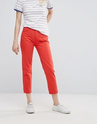 Wrangler Cropped Straight Jean Red