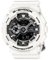 G Shock Women's Analog Digital Floral White Resin Strap Watch 49X46mm Gmas110f 7A
