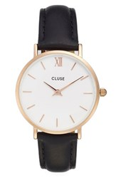 Cluse Women's 'Minuit' Leather Strap Watch 33Mm