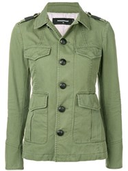 Dsquared2 Military Buttoned Jacket Green