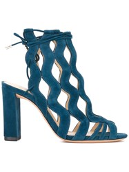 Alexandre Birman Cage Ankle Sandals Green