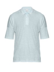 Robinson Les Bains Sable Cotton Jersey Polo Shirt Light Blue