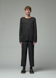Comme Des Garcons Sequin Knit Sweater Black