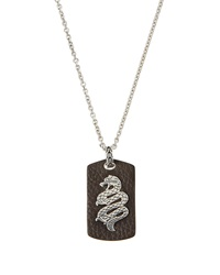 John Hardy Sterling Silver And Leather Dragon Pendant Necklace Brown