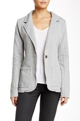 Peace Love World Fleece Blazer Gray