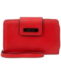 Kenneth Cole Reaction Never Let Go Tech Tab Wristlet With Charger Red