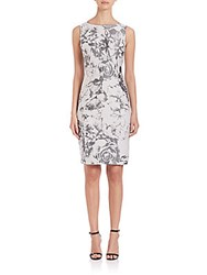 Lafayette 148 New York Botanical Splash Jacquard Carmela Dress Rock