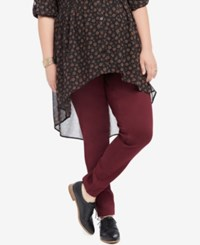 Motherhood Maternity Plus Size Skinny Pants Pinot Noir Burgundy