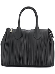 Gum Fringed Tote Black