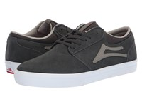 Lakai Griffin Charcoal Suede Skate Shoes Gray