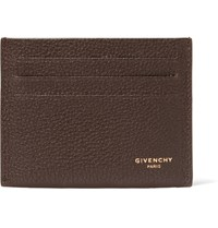 Givenchy Full Grain Leather Cardholder Brown