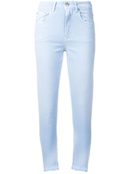 Closed Frayed Slim Fit Jeans Blue