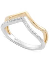 Wrapped Diamond Midi Ring 1 10 Ct. T.W. In 10K Yellow And White Gold No Color