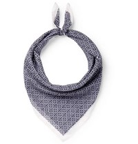 Anderson And Sheppard Printed Cotton Scarf Navy