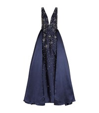Jovani Sequin Embellished Ball Gown Female Blue