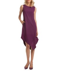 Trina Turk Joyous Carmel Crepe Sleeveless Dress Purple