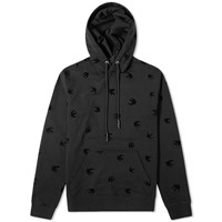 Mcq By Alexander Mcqueen All Over Print Swallow Popover Hoody Black